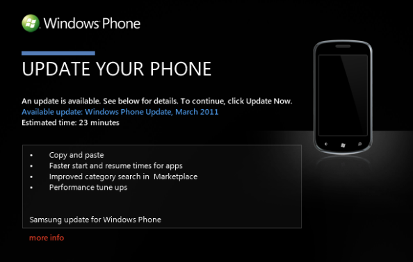 March 2011 WP7 Update